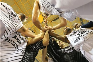 Celebration Paok basketball players